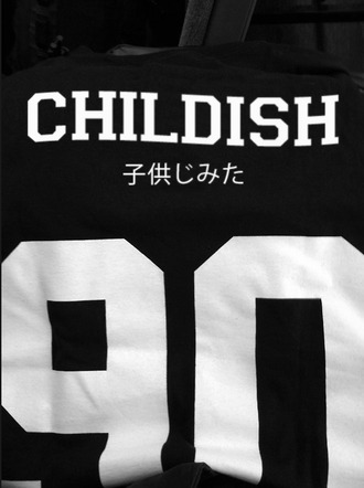 shirt dress 90 japanese childish black fashion sexy hot t-shirt number asian writing childish gambino black and white tshirt. black t-shirt grunge t-shirt sweater black white japanese letters