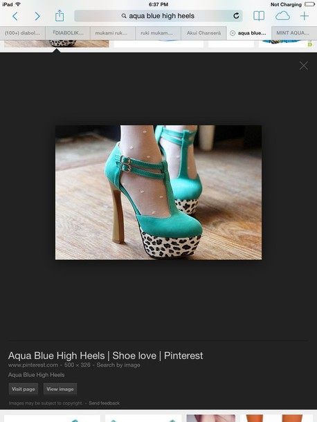 shoes heels aqua marine