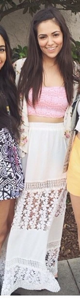 skirt white bethany mota