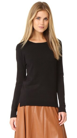 pullover basic black sweater