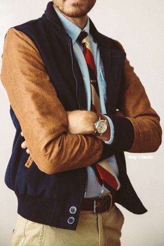 stay classic blogger jacket menswear tie suede hipster menswear mens baseball jacket