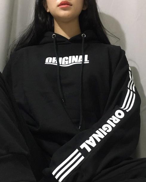 sweater hoodie black white black and white