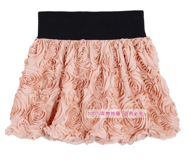 Women's skirt 2013 new fashionable color rose skirt