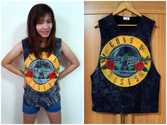 guns and roses shirt rock tank top gun n roses shirt guns n roses punk