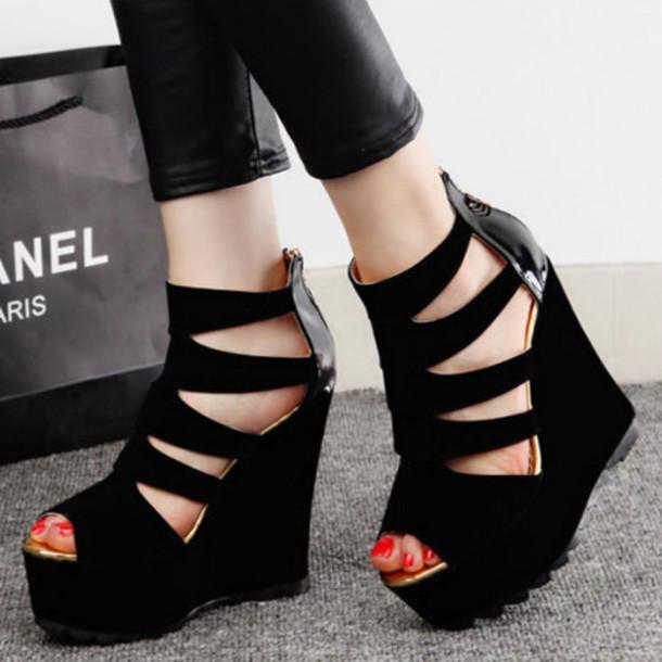 93af63d82ebea shoes shoes fashion women summer high heel sandals beautiful pretty elegant  classy trendy girl black cute