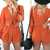 Orange Shorts Top Set With Slit Sleeve on Storenvy