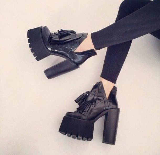 shoes chunky heel heels