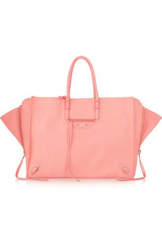 zip leather pink bag