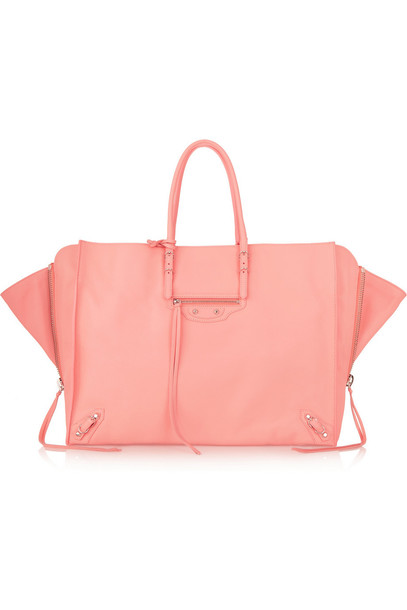 Balenciaga zip leather pink bag