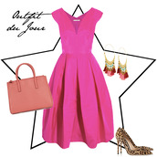 fashion foie gras,blogger,pink dress,earrings,leopard print high heels,handbag,dress,jewels,bag,shoes,anya hindmarch