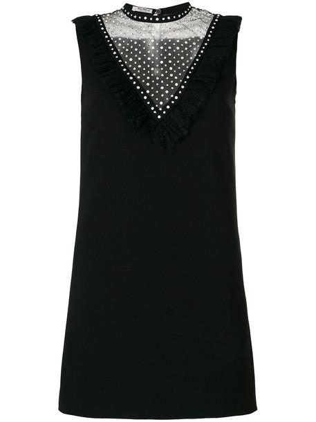 Miu Miu dress shift dress women embellished black