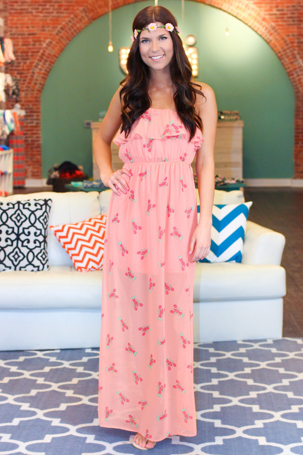 dress lobster lobster dress pink coral lobsters southern prep southern
