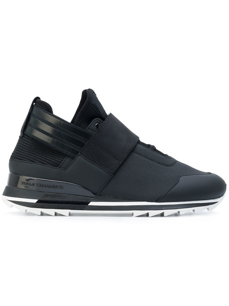 Y-3 women sneakers leather black shoes