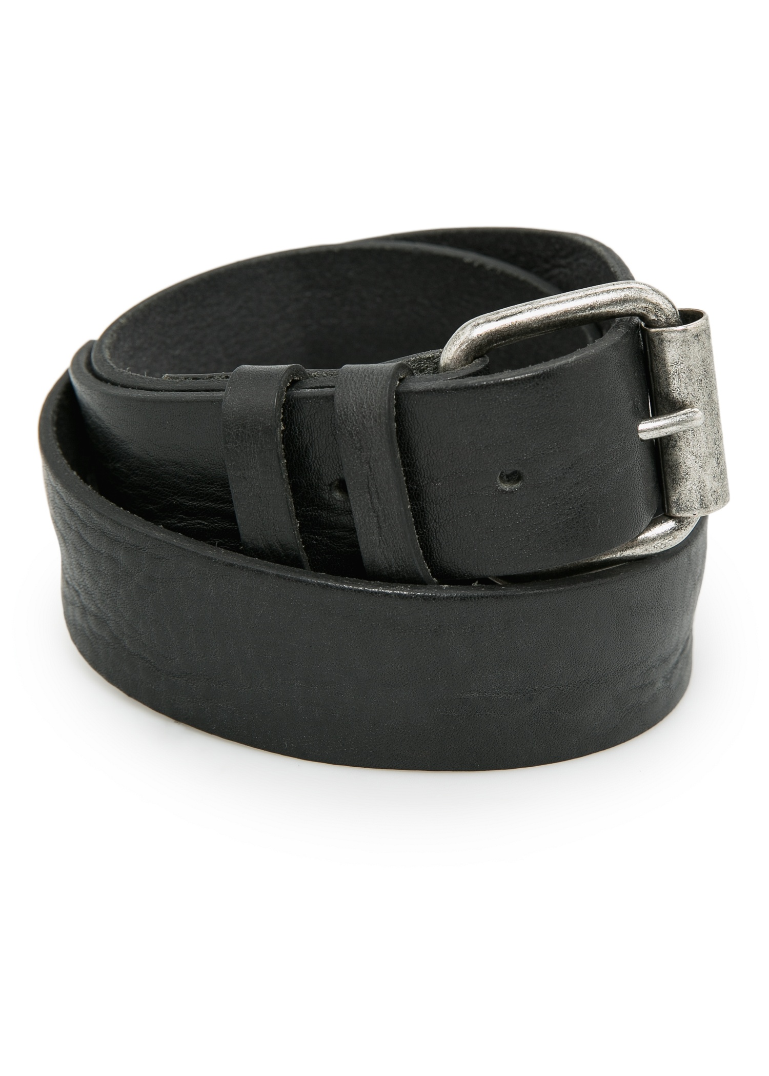 Double keeper leather belt - Women | MANGO