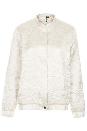 Satin Embroidered Bomber Jacket - Bikers & Bombers - Jackets & Coats - Clothing- Topshop Europe