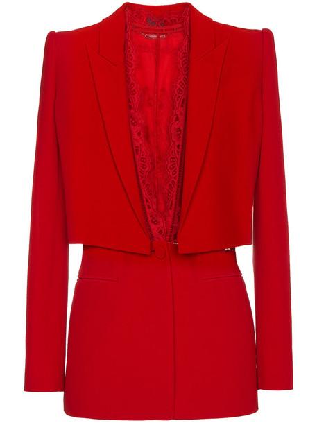 Alexander Mcqueen jacket women red