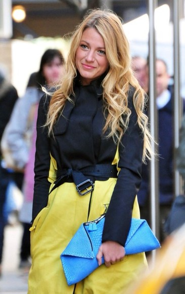 serena van der woodsen coat yellow trench coat