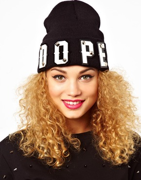 Funky Bling | Funky Bling Dope Beanie Hat at ASOS