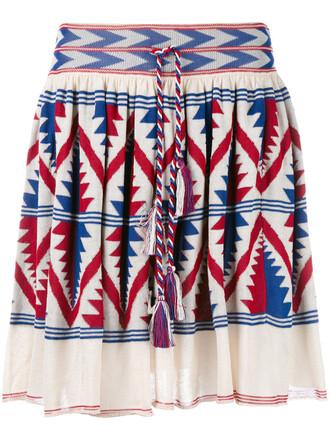 skirt women nude cotton aztec