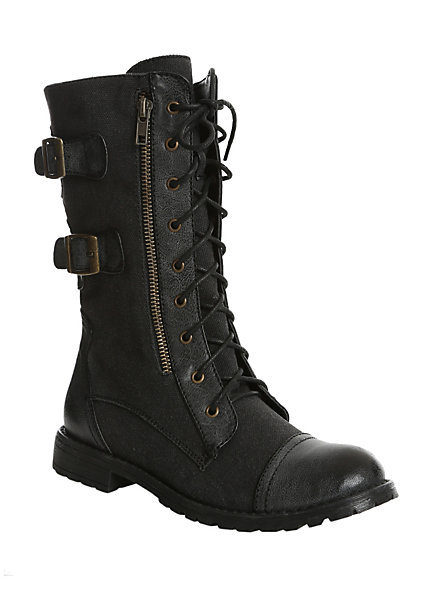Groove Force Black Boot | Hot Topic