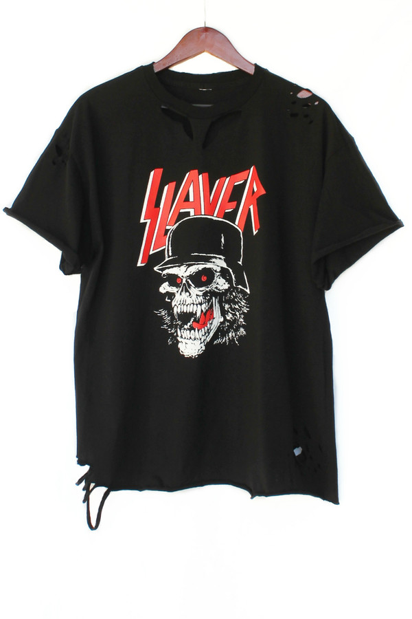 t-shirt slayer metal thrash mwtal 80s style justvu.com slayer tee band t-shirt clothes mens t-shirt destroyed t shirt graphic tee 80s style 80s fashion