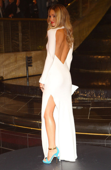 dress backless sexy white girl white dress