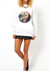 sweater,yin andyang,yin yang,yin and yang sweatshirt,yin ang yang shirt,ying yang leggings