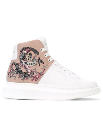 embroidered sneakers white shoes