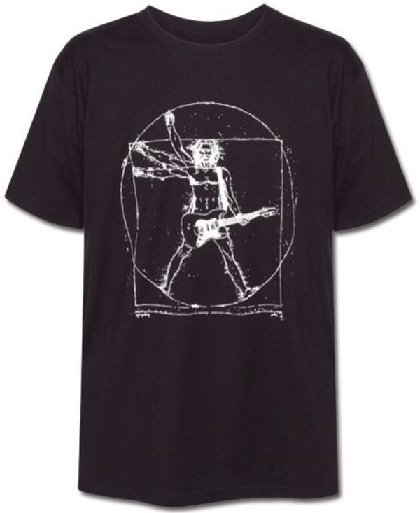 shirt black rock grunge da vinci guitar