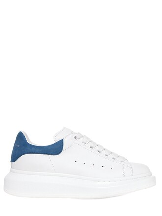 suede sneakers sneakers leather suede white blue shoes