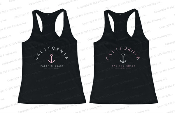 bff tank tops matching tank tops matching tank tops for bff california top california california tank tops california paradise love tank top california paradise cove california pacific coast huntington beach anchor print anchor print top anchor shirt anchor design summer tank tops beach tank tops beachwear beach anchor