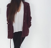 jacket,burgundy,fall jacket,winter jacket,fall outfits,clothes