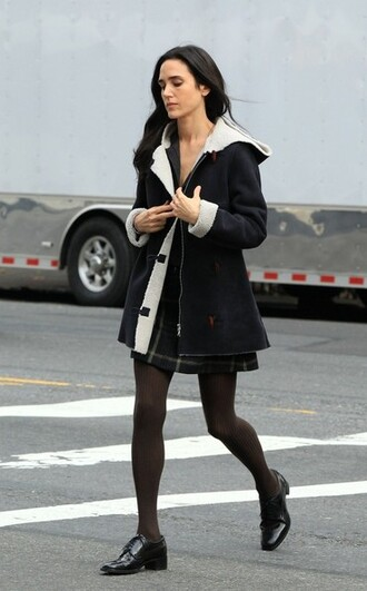 jennifer connelly duffle coat jacket