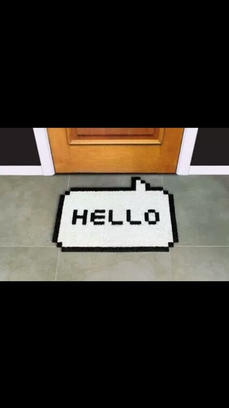 home accessory doormat quote on it