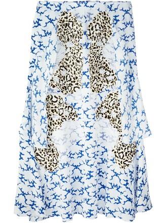 skirt embroidered white