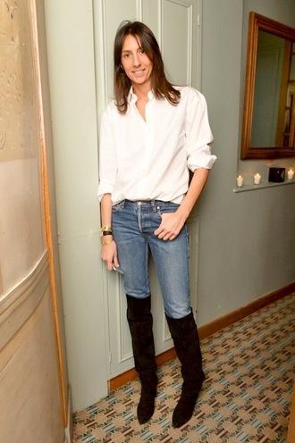 le fashion image blogger shirt jeans shoes