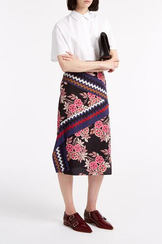skirt floral black