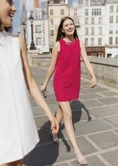 dress,red dress,mini dress,sandals,Silver sandals,summer dress,summer outfits,& other stories