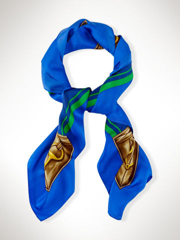 Silk Triple-Pony Scarf - Scarves  Hats, Scarves & Gloves - RalphLauren.com