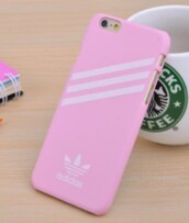 phone cover,baby pink,adidas,phine case