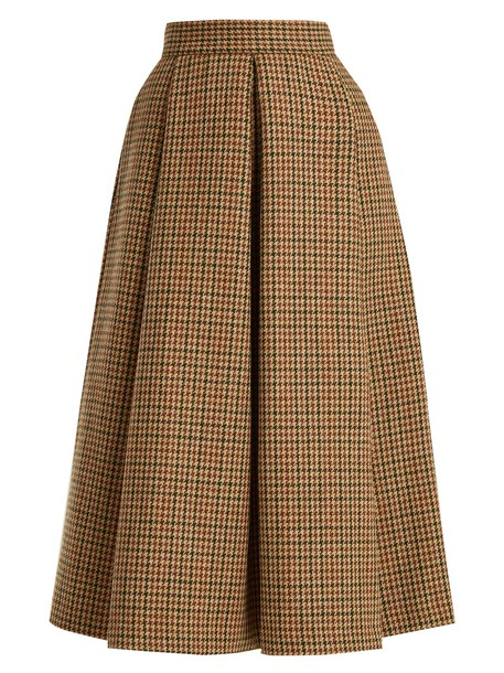 LUISA BECCARIA skirt midi skirt midi wool brown
