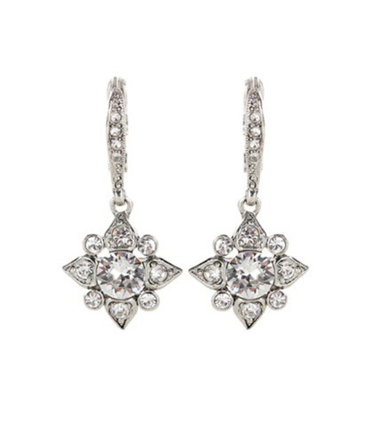 Oscar de la Renta Swarovski crystal-embellished earrings in silver