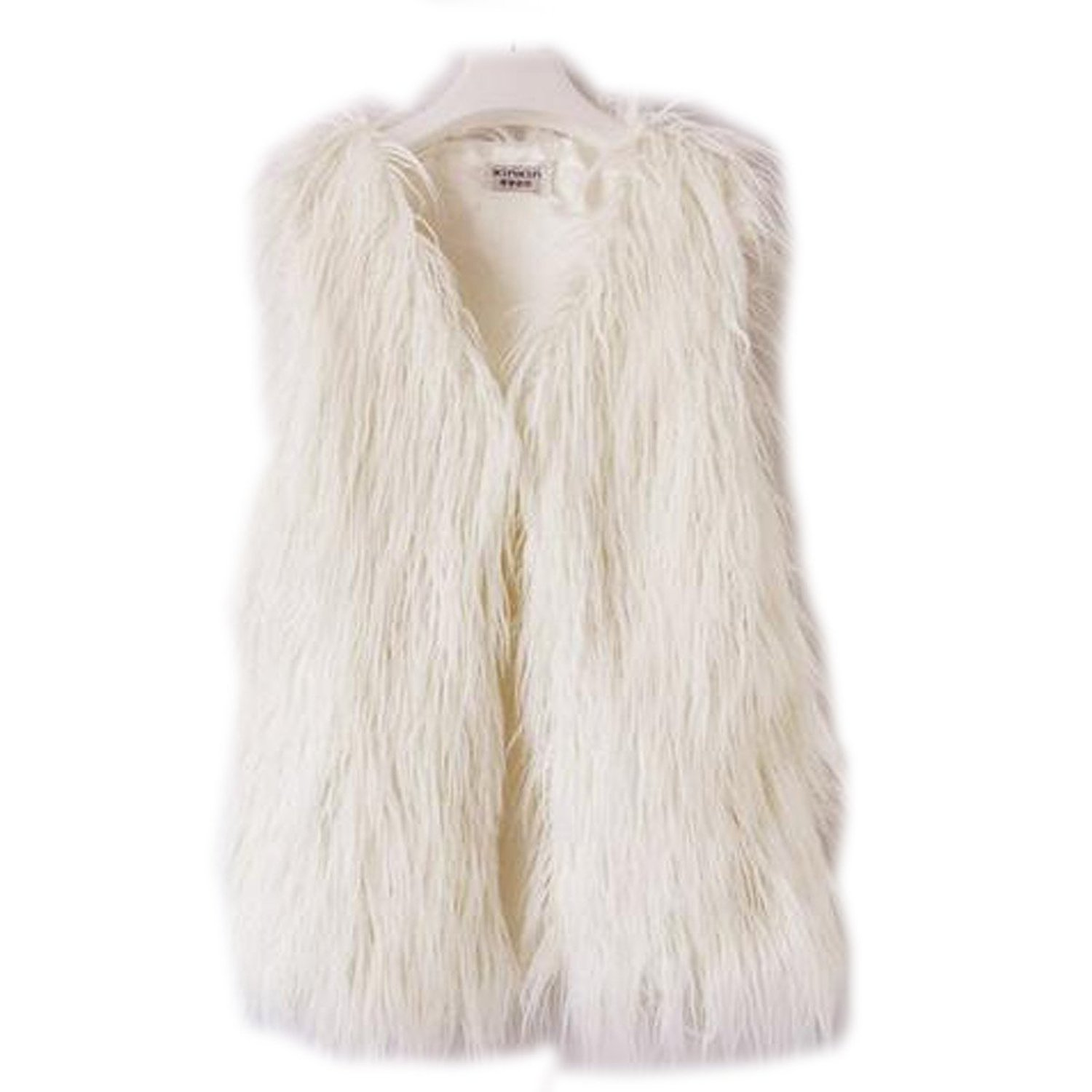 Zeagoo 2014 autumn winter sleeveless warm faux fur short vest jacket waistcoat coat at amazon women's coats shop