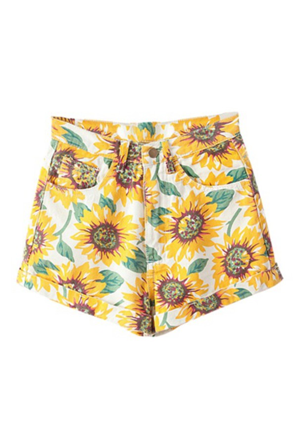 shorts sunflower shorts sunflower high waisted