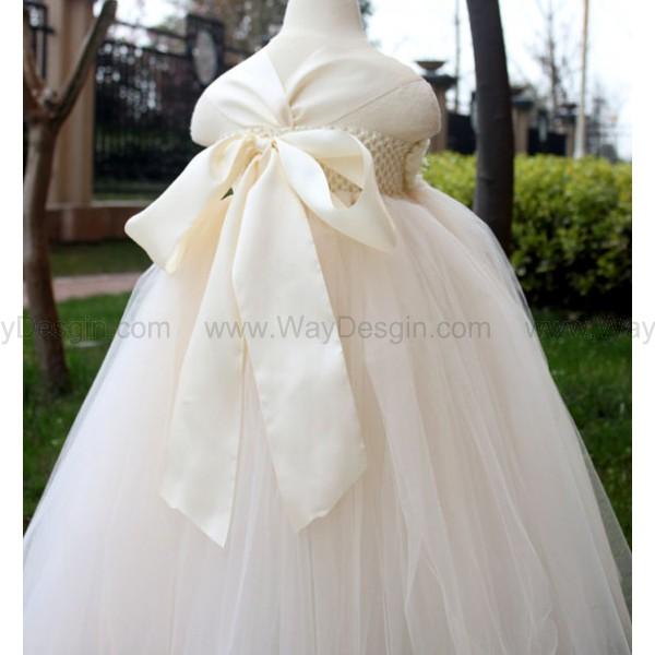 White Flower Girl Dress white tutu dress baby dress toddler birthday dress wedding dress