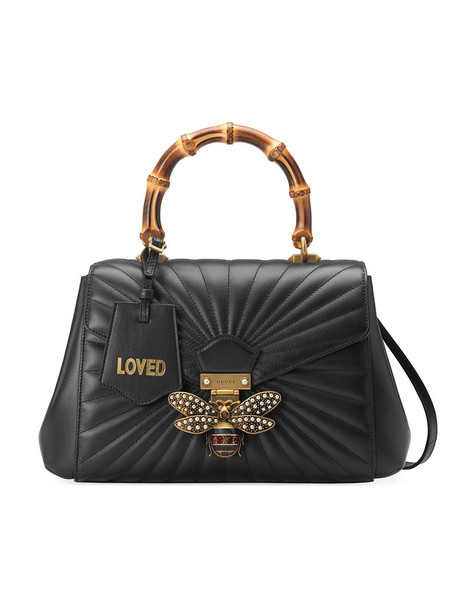 gucci metal women quilted bag leather black