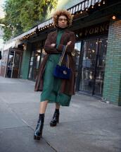 bag,blue bag,black boots,turtleneck dress,gucci bag