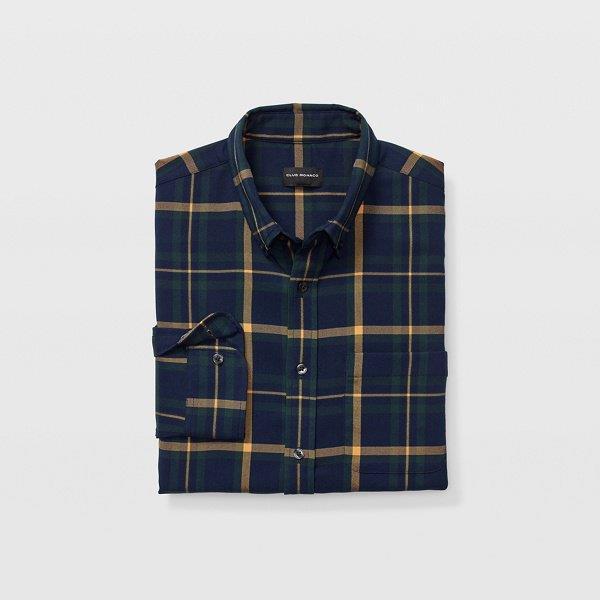 Slim Twill Plaid Shirt