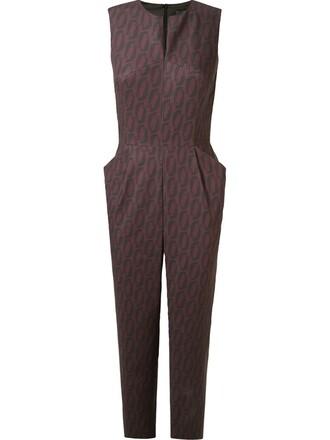 jumpsuit pleated women spandex cotton black