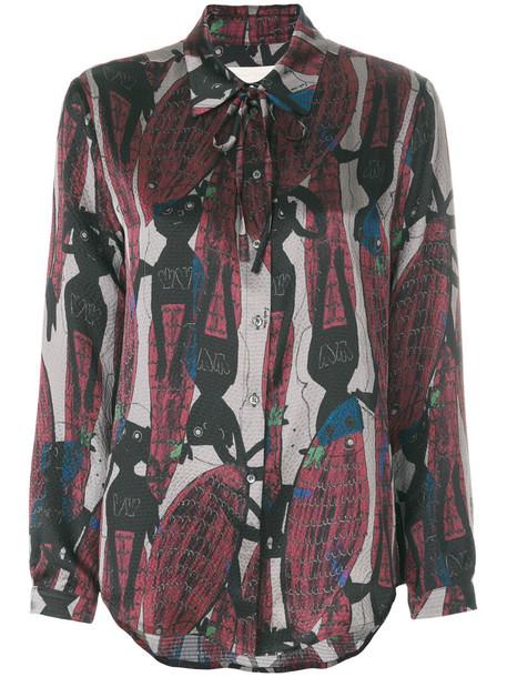 L'Autre Chose shirt printed shirt women silk top